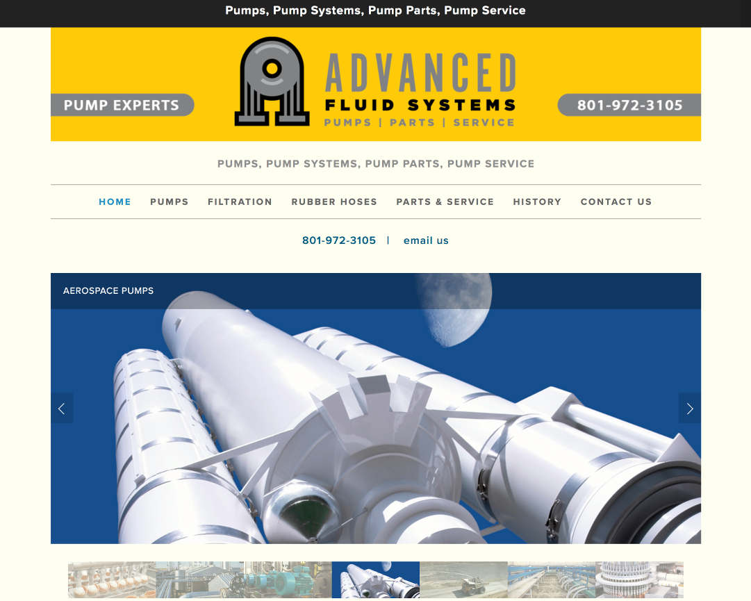 Advanced Fluid Systems Web Site by EXPAND Business Solutions