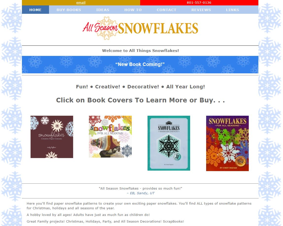 All Season Snowflakes Web Site by EXPAND Business Solutions