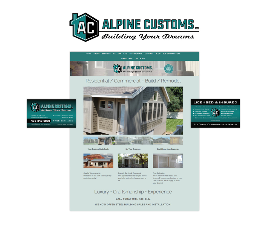 Alpine Customs Business Card Designed by EXPAND