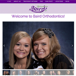 Baird Ortho Site Designed by EXPAND