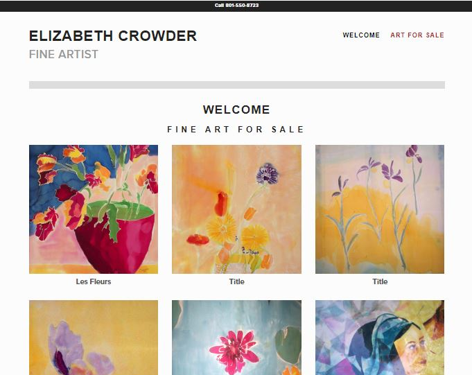 Elizabeth Crowder Art Web Site by EXPAND Business Solutions