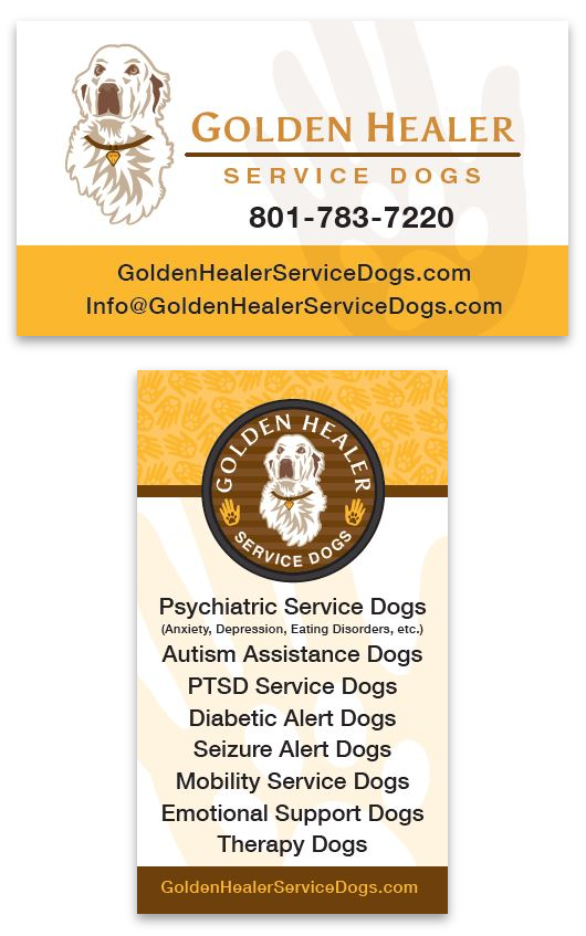 Golden Healer Service Dogs Business Cards Designed by EXPAND Business Solutions